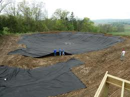 landscape fabric used as a pond liner