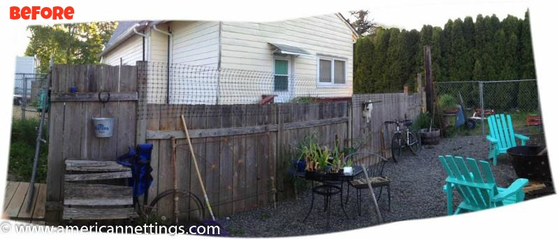 Before privacy fence