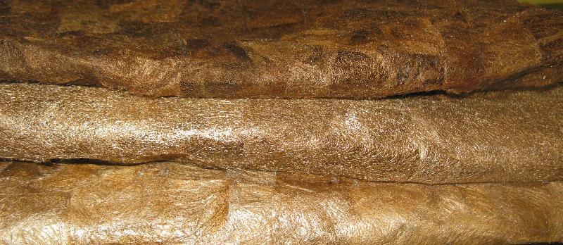 Two new wild silk textiles plus the original (top)