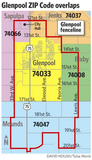 Chamber Works With City In Glenpool To Update Zip Codes For