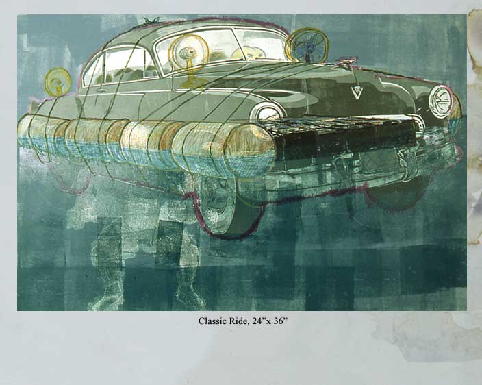 Classic Ride, a printmaking work by Arturo Rodriguez