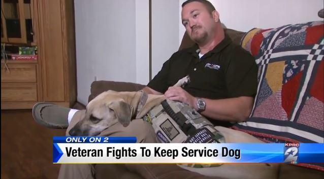 seargent kolb and his service dog Hank