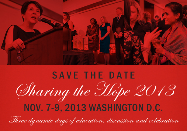 Save the Date for Sharing the Hope