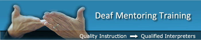 Deaf Mentor Training Banner