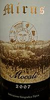 Mocali Mirus Toscana Label