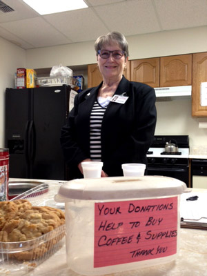 Coffee Hour Hostess Donna Foust