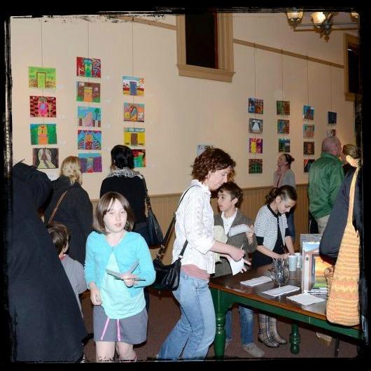 Kids art opening