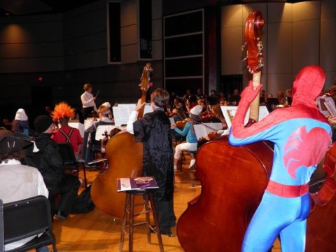 Spiderman in the bass section