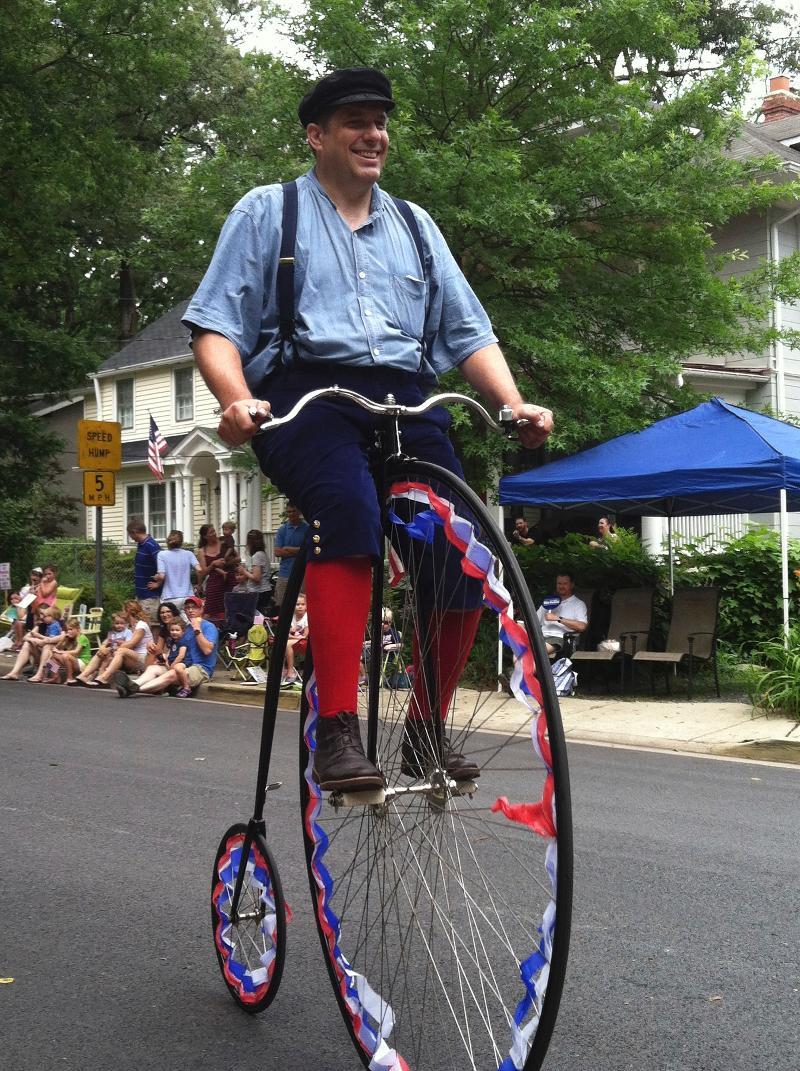 Man having fun at Parade