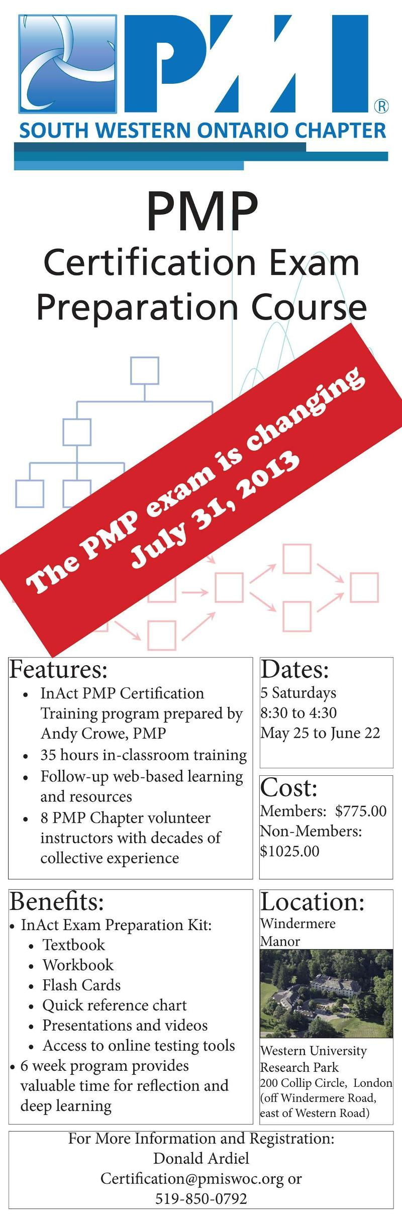 Pmi Swocs Pmp Certification Exam Prep Course Starts May 25 2013