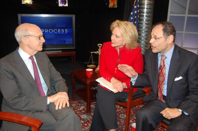 Justice Breyer, Sandy King and Raymond Brown