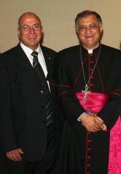 Sir Rateb Rabie and Patriarch Twal