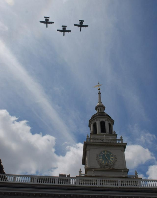 Air Force Flyover Independence Hall