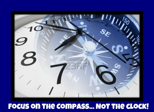 Focus on the Compass Not the Clock at Maximum One Realty