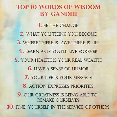 Wisdom by Gandhi