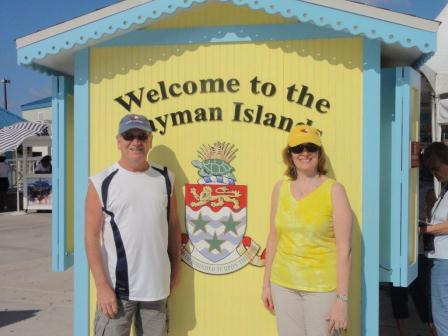 John and Michelle in Cayman