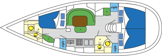Beneteau 411 layout