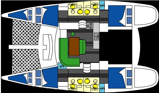Lagoon 440 layout