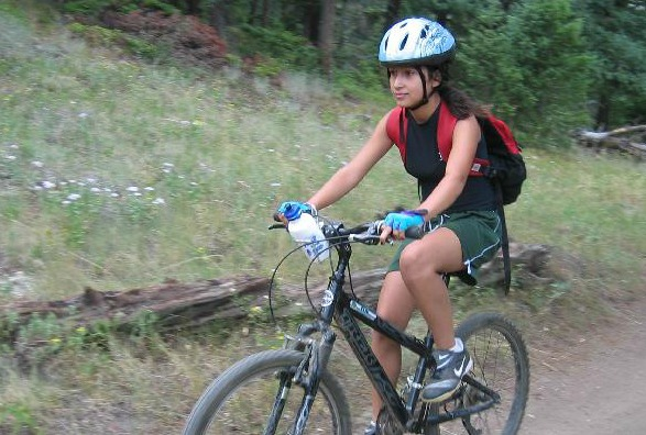 Girl riding with TFKD at Elk Meadow