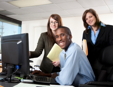 Happy Smiling Co-Workers