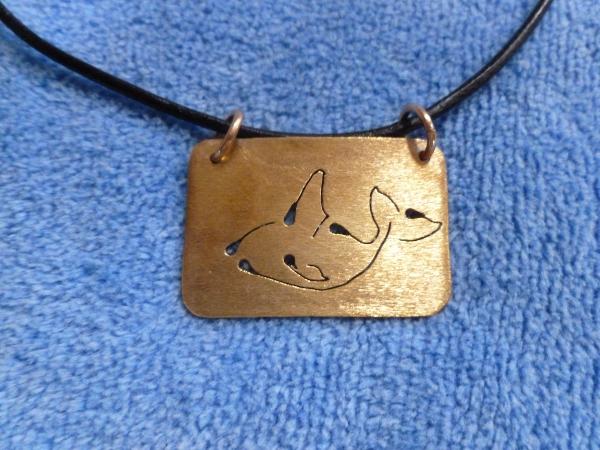 Bronze orca pendant