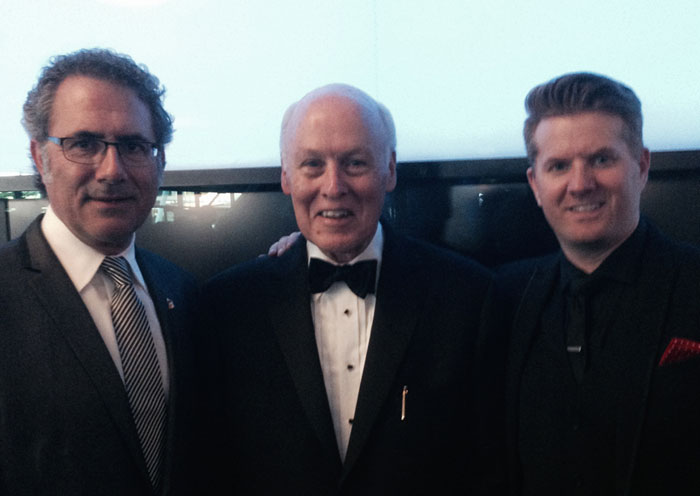Ken Abdo, Bob Donnelly and Adam Gislason at the 2015 Grammy Awards