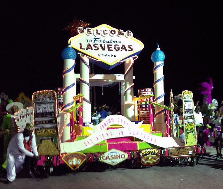 Rockers Las Vegas float