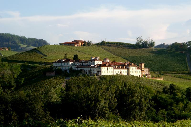 The Poderi Aldo Conterno farmhouse on a hillside in Monforte d'Alba.