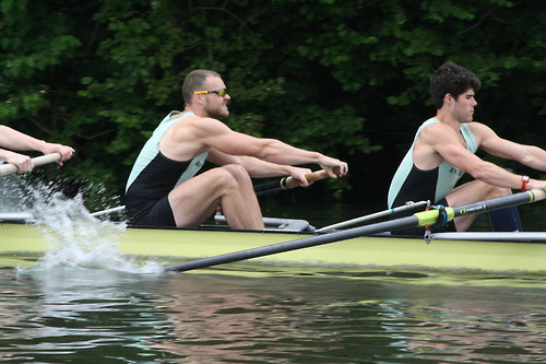rowing two guys