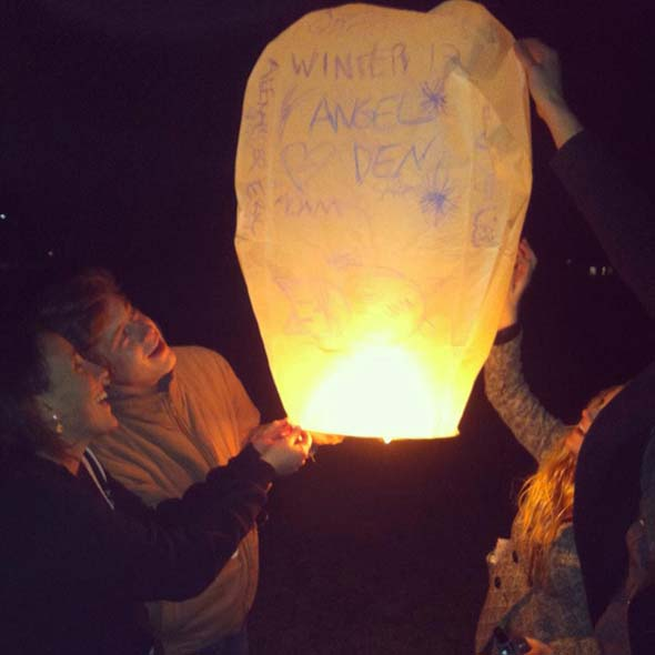 Getting ready to leave for their first co-op term, students in the Class of 2016 say goodbye by sending off paper lanterns into the night sky with wishes written on them. Beautiful, bittersweet evening captured by Rebecca Smith.