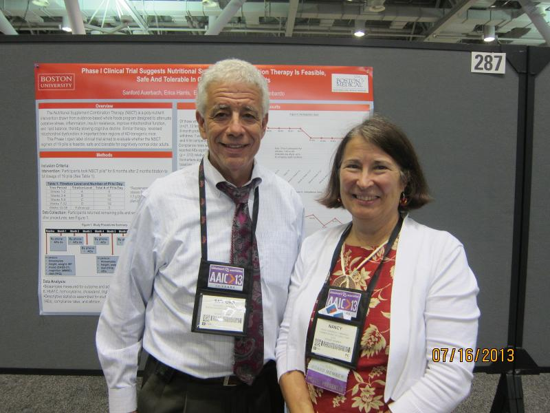 Sandy Auerbach & Nancy at NSCT Poster