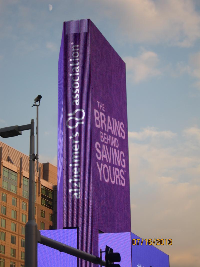 Alz Association Tower for AAIC Brains