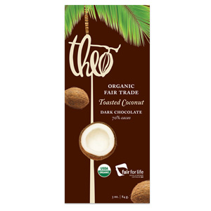 Theo Dark Chocolate with Coconut