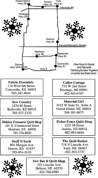 Heartland Shop Hop Map