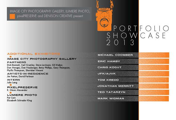Portfolio Showcase 2013 Card Front