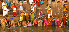 Bathing in the Holy Ganges by Jim Patton