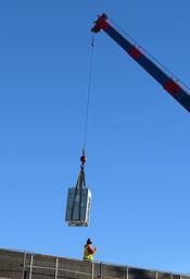 Landing VRF Condensing Unit on Roof of Vanden HS