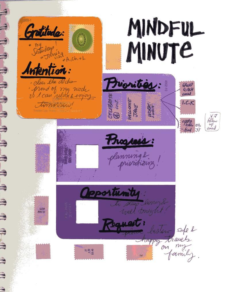 Mindfulness Journal page