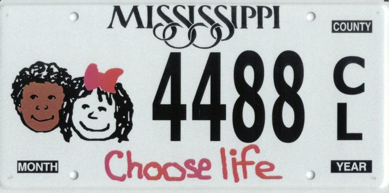 Choose Life Car Tag