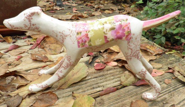 Fabric glazed greyhound