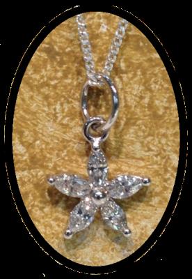 Raffle flower pendant