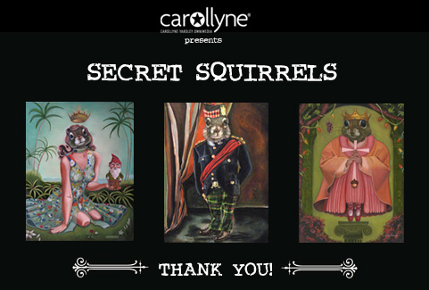Secret Squirrels: Thank You!