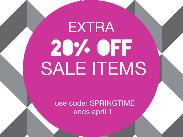 Save 20% Extra on Sale Items - Shop Now