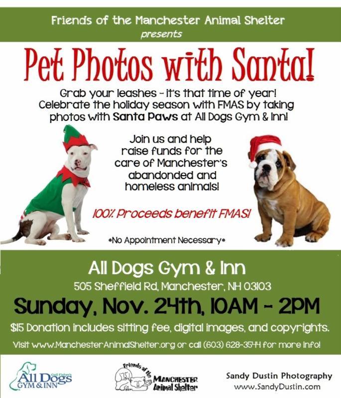 Pet Photos with Santa Paws