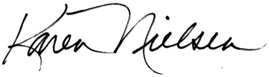 Karen Nielsen signature