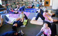 Baby Yoga Class, Photo Courtesy of San Diego County Library