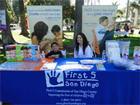 October 8, 2011 - First 5 San Diego staff Naomi Chavez and Marco Lemus at the Hope in the Park event.