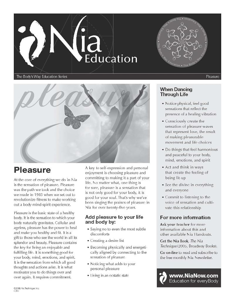 Nia Pleasure Handout