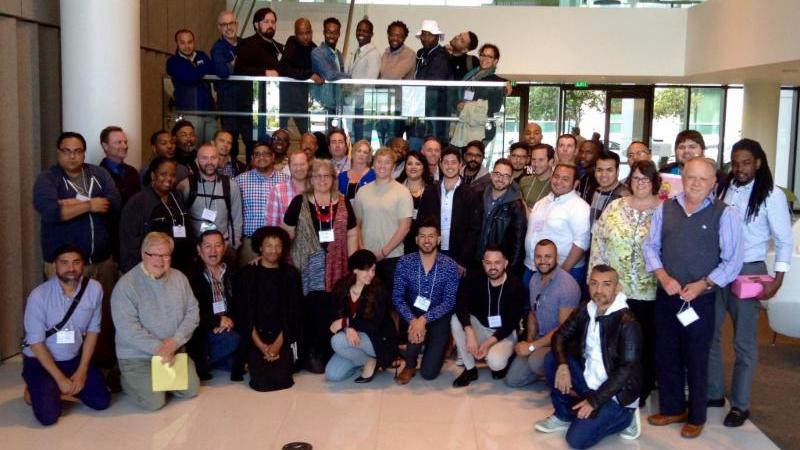 Group photo of the Mpowerment Summit 2016 Attendees at the first floor of CAPS Mission Hall Building in San Francisco
