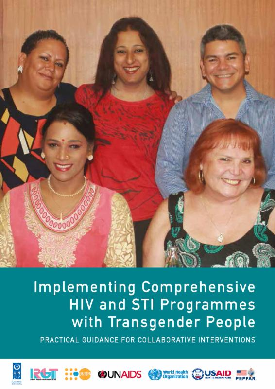 Front cover of the document %22Implementing Comprehensive HIV and STI Programmes with Transgender People%22
